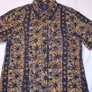 Lucky Brand Short-sleeve Cotton Batik Button Shirt
